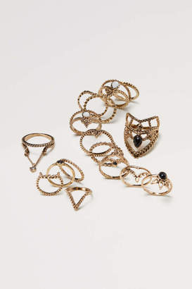 H&M 16-pack Rings - Gold-colored - Women