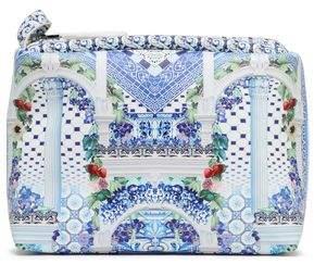 Camilla Printed Coated Faux Leather Cosmetics Bag