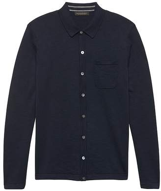 Banana Republic Button-Front Sweater Polo