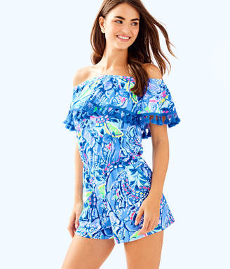 Lilly Pulitzer La Fortuna Off The Shoulder Romper
