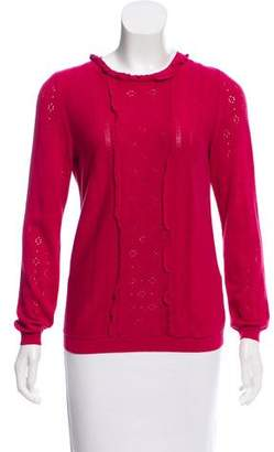 RED Valentino Long Sleeve Knit Sweater