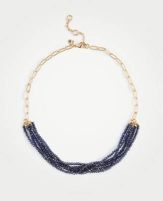 Ann Taylor Resin Metal Stud Necklace