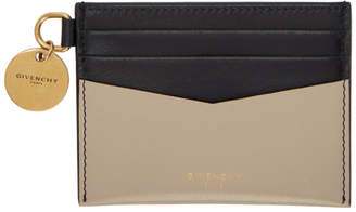 Givenchy Beige and Black Edge Card Holder