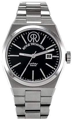 Revue Thommen Urban - Lifestyle Women's Automatic Watch with Black Dial Analogue Display and Silver Stainless Steel Bracelet 108.01.02