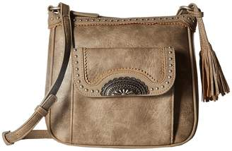 American West Guns and Roses Crossbody w/ Secret Compartment Cross Body Handbags