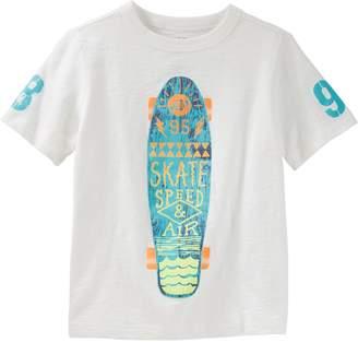 "Osh Kosh Oshkosh Bgosh Boys 4-12 Skate Speed & Air"" Skateboard Slubbed Graphic Tee"