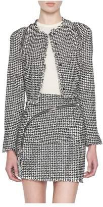 Alexander Wang Zipper-Detail Tweed Jacket