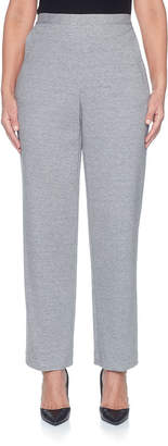 Alfred Dunner Play Date Knit Flat Front Pants-Misses Short