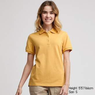 Uniqlo WOMEN Stretch Pique Short Sleeve Polo Shirt