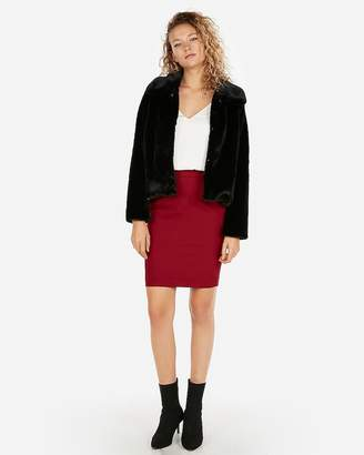 Express High Waisted Pocket Pleated Pencil Skirt