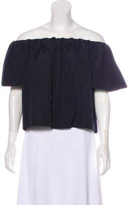 Vince Off-The-Shoulder Oversize Top