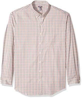 Van Heusen Men's Big and Tall Flex Long Sleeve Tattersal Button Down Shirt
