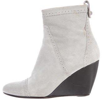 Balenciaga Balenciaga Suede Wedge Ankle Boots