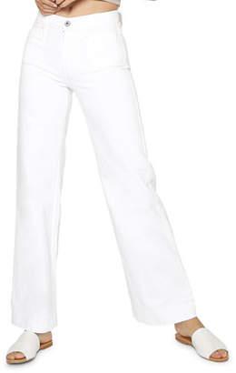 James Jeans Caroline Flat Patch Pocket Wide-Leg Jeans
