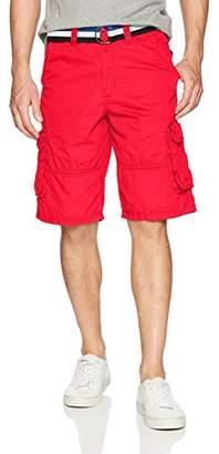 Southpole Men's Mini Canvas Basic Cargo Shorts