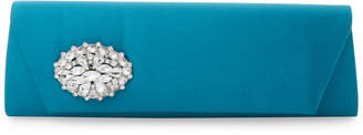 Badgley Mischka Satin Broach Clutch