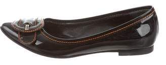 Fendi Buckle Pointed-Toe Flats