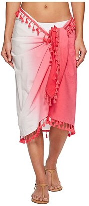 San Diego Hat Company BSS1812 Woven Dip-Dye Sarong Cover-Up