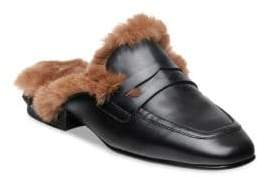 Ash Emotion Leather & Faux-Fur Mules