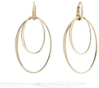 Pomellato 18k Rose Gold Oval Hoop-Drop Earrings