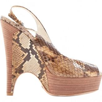 Gucci Grey Water snake Heels
