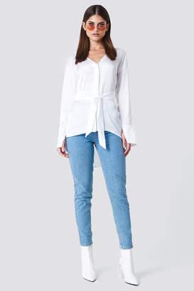 Sahara Ray X Na Kd Oversized Satin Knot Shirt