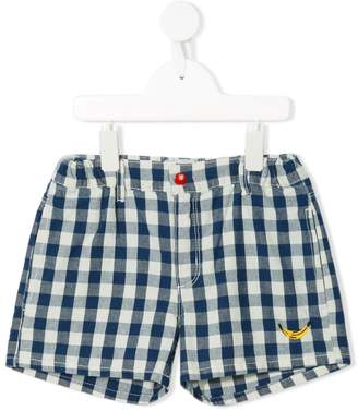 Bobo Choses checked elasticated shorts