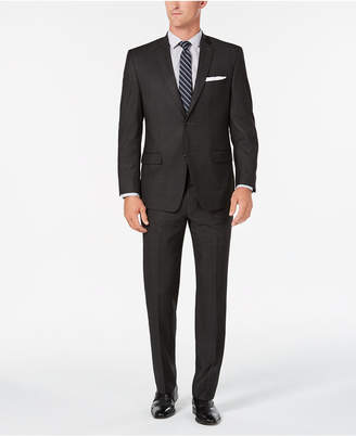 Andrew Marc Men's Modern-Fit Gray Windowpane Suit