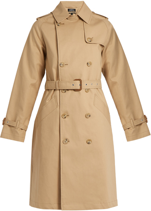 A.P.C. Julianne cotton trench coat $588 thestylecure.com