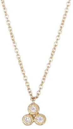 Bony Levy 18K Yellow Gold Harlowe 3 Stone Diamond Pendant Necklace - 0.04 ctw