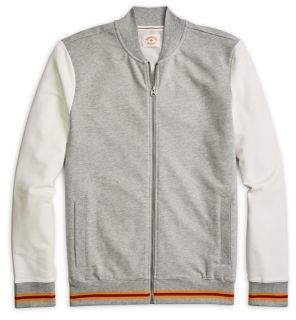 Brooks Brothers Red Fleece Colorblock French Terry Baseball Jacket