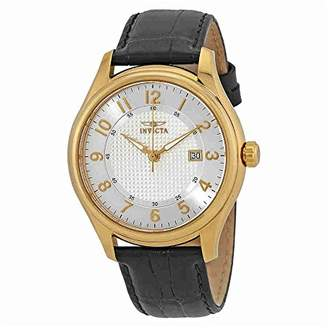 Invicta Men's 'Vintage' Swiss Quartz Stainless Steel and Leather Casual Watch