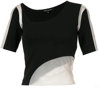 Gloria Coelho tulle panels cropped T-shirt