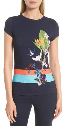 Women's Ted Baker London Immyeni Tropical Oasis Tee $79 thestylecure.com