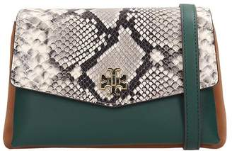 Tory Burch Kira Exotic Shoulder Bag In Green Leather