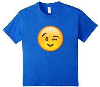 EmojiTees Wink Emoji T Shirt