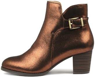 Hush Puppies Verified Bronze Boots Womens Shoes Casual Ankle Boots
