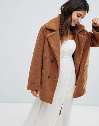 Moon River reversible fleece coat
