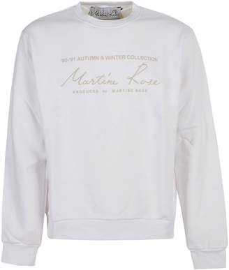 Martine Rose Embroidered Logo Sweater