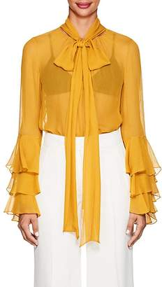 Prabal Gurung Women's Ruffled Silk Chiffon Blouse