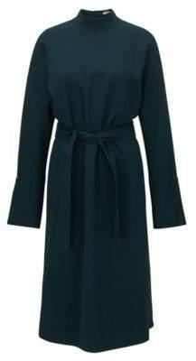 HUGO BOSS Turtleneck Dress Dolarena 2 Dark Green
