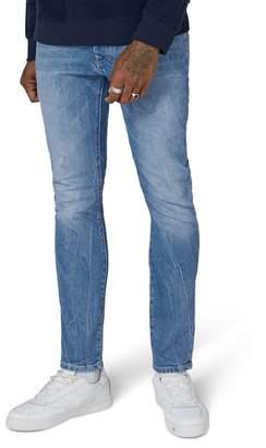 Topman Bright Blue Stretch Slim Jeans