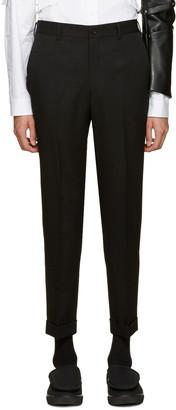 Comme des Garçons Homme Plus Black Wool Trousers $445 thestylecure.com