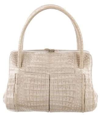 Nancy Gonzalez Embossed Leather Handle Bag