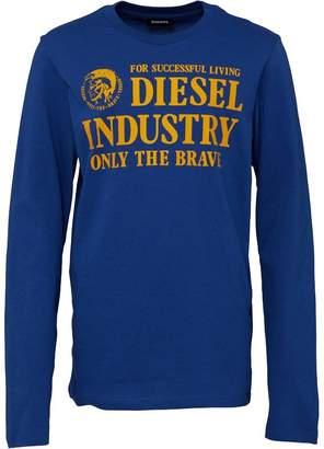 Diesel Boys Tizzi Printed Slim Long Sleeve Top Blue