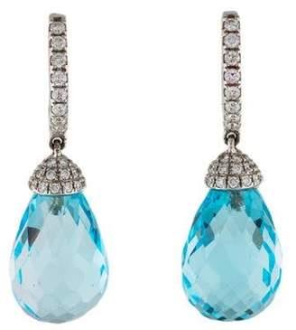 Rina Limor Fine Jewelry 18K Topaz & Diamond Drop Earrings
