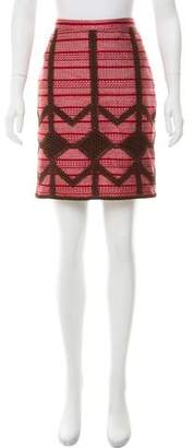 Derek Lam Crochet Woven Skirt