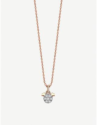 Rosegold The Alkemistry Kismet By Milka 14ct rose-gold Gemini necklace