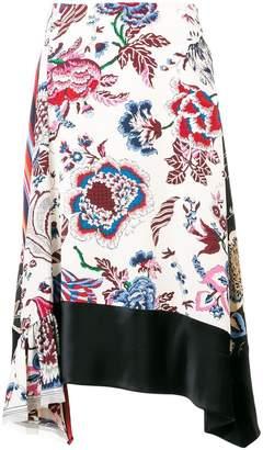 Tory Burch asymmetric floral skirt