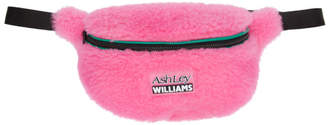 Ashley Williams Pink Shearling Bum Bag